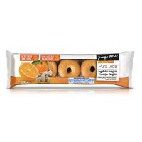 Biscoitos Argolas Integrais Laranja E Gengibre