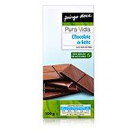 Chocolate Pura Vida Leite Sem Açúcar 100G