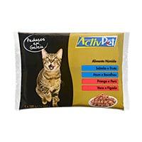 Alimento Húmido Pedaços Em Geleia Gato Activpet 4X100G