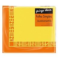 Guardanapos Amarelos Folha Simples 33X33 Pingo Doce 70 Unidades