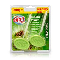 Bloco Wc Sólido Pinho 2X40G Ultra Pro