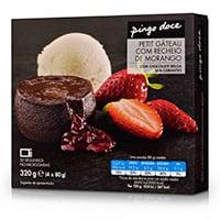 Petit Gâteau Chocolate Com Recheio De Morango Pingo Doce 4X80G