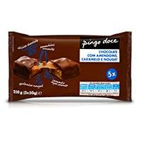 Chocolate Com Caramelo E Amendoim Pingo Doce 5X50G