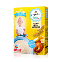 Farinha Láctea Multifrutos Pingo Doce Cuida Bebé 250g
