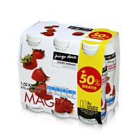 Iogurte Líquido Magro Morango Pingo Doce 4x170g + 2 Unid. Grátis