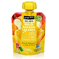 Bolsa de Fruta Maçã, Laranja E Banana Pingo Doce 90G