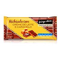 Tablete Chocolate Recheio Caramelo Pingo Doce 96G