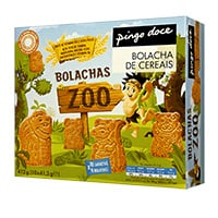 Bolacha Zoo Pingo Doce 412G