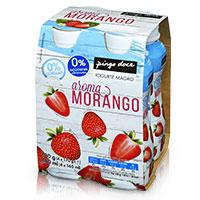 Iogurte Líquido Magro Aroma Morango Pingo Doce 4x170g