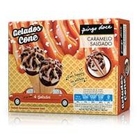 Cone Caramelo Salgado 4X120Ml Pingo Doce