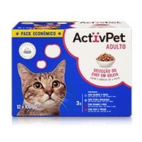 Comida Húmida para Gato c/ Pedaços em Geleia ActivPet 12x100g