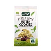 Bolachas de Manteiga Chocolate e Chá Verde Go Bio 150g