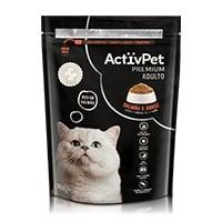 Alimento Seco p/ Gato Salmão e Arroz Premium ActivPet 800g