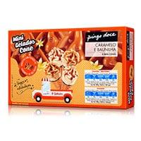 Mini Gelados Cone Caramelo e Baunilha Pingo Doce 8 Unid.
