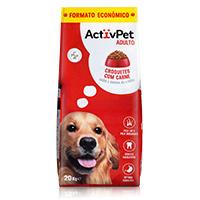 Croquetes com Carne para Cão Adulto Formato Económico Activpet 20Kg
