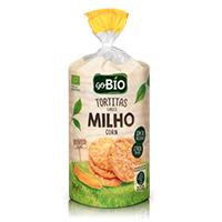 Tortitas de Milho Biológico s/ Sal GO BIO 130g