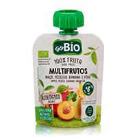 Bolsa Multifrutos Maçã, Pêssego, Banana e Pêra GO BIO 90g