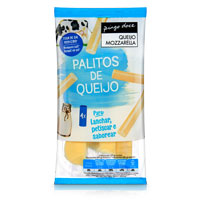Palitos de Queijo Mozzarella Pingo Doce 4 Unidades