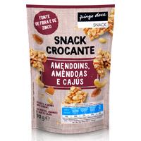 Snack Crocante Amendoins, Amêndoas e Cajús Pingo Doce 90g