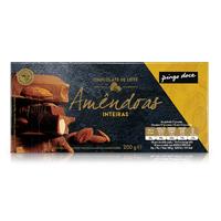 Chocolate de Leite com Amêndoas Inteiras Pingo Doce 200g