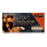 Chocolate de Leite com Amêndoas Caramelizadas Pingo Doce 200g