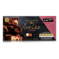 Chocolate de Leite com Avelãs e Passas Pingo Doce 200g