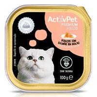Comida Húmida Pedaços com Salmão em Molho para Gato ActivPet Premium 100g