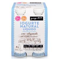 Iogurte Natural Inteiro Probiótico Liquido Pingo Doce 4x170g